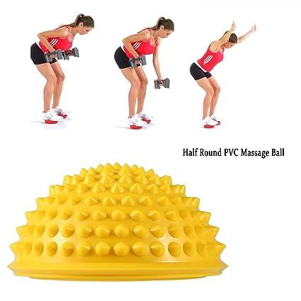 Yoga bola de masaje, el automasaje para Aliviar el dolor, Yoga,equilibrio bolas (amarillo)