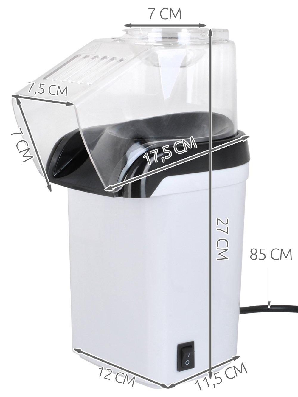 Palomitero 1200 W sin aceite Popcorn Maker Taza medidora # 5432: Amazon.es: Hogar