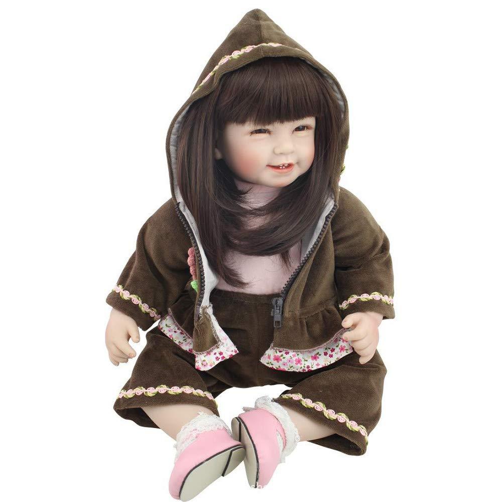 【激安大特価!】  Fineser 新生児 赤ちゃん人形 55cm 生きているようなリボーン B 赤ちゃん人形 aa80308172 ビニール B07GLTYN4F シリコン製 リボーンベビー 子供の遊び 誕生日に最適 マルチカラー aa80308172 B B07GLTYN4F, 七山村:76b18a3f --- pmod.ru