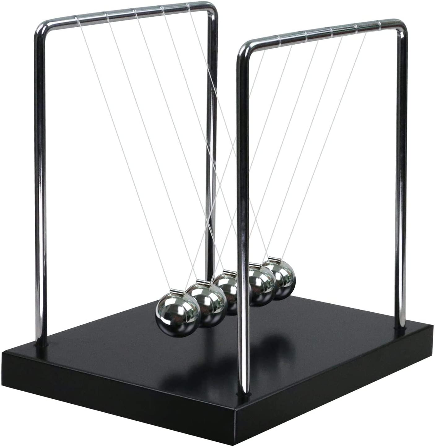 Newton's Cradle Office Desktop Black Wooden Base Science Psychics Desk Fun Gadget Toys Home Decoration'