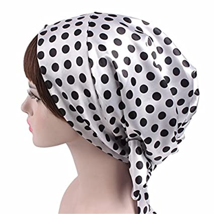 Amazon Wcysin Satin Bow Headscarf Comfortable Sleeping Bonnet