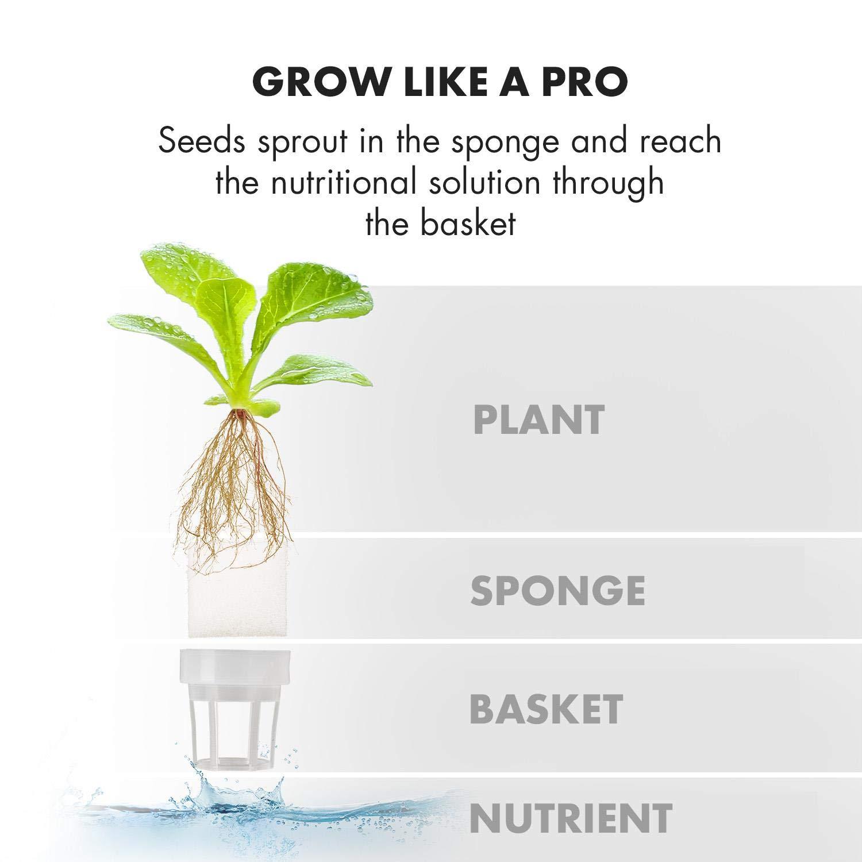 Klarstein GrowIt Flex • Smart Indoor Garden • 15-Piece Set • Grow Up to 9 Plants in 25 to 40 Days • 68 to 82 ° F • 18 Watts LED Lighting • 2-Liter Water Tank • Daylight Simulation System • White by KLARSTEIN