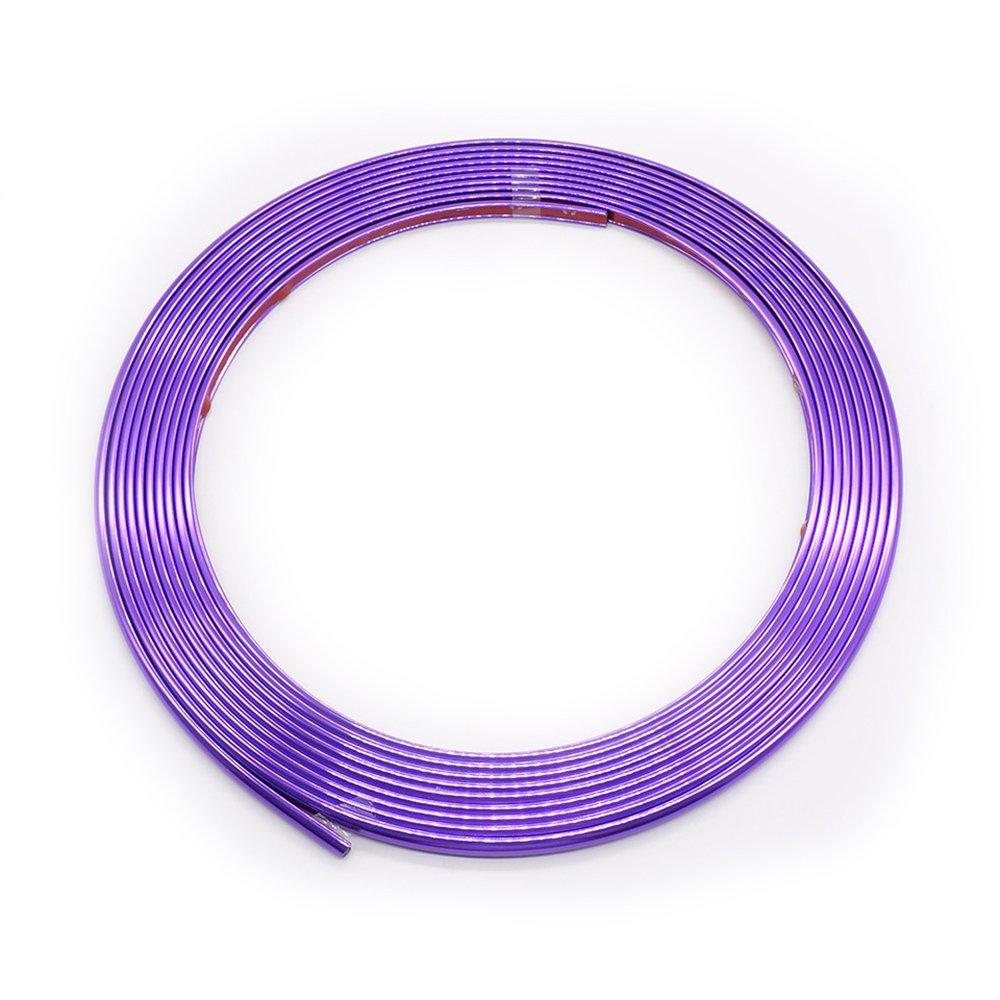 DIY Car Motor Interior Exterior Decoration Moulding Trim Strip line Sticker 26ft (purple)