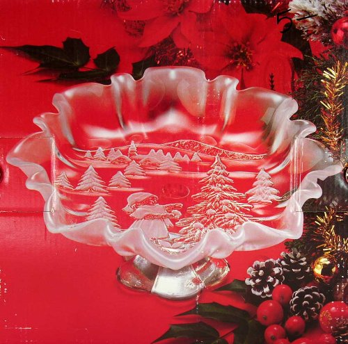 Mikasa Christmas Story Footed Bon Bon Plate (Bonbons Christmas)