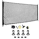 "Cargo Net, MAXTUF 47.2""x23.6"" Elastic Trunk Cargo Net Nylon Flexible Mesh Trunk Net Storage Organizer with Mounting Kit"