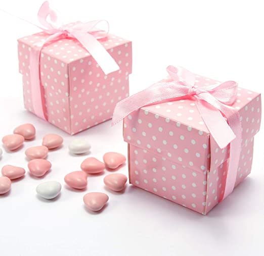 50 cajas de regalo para invitados, para bodas, baby shower ...