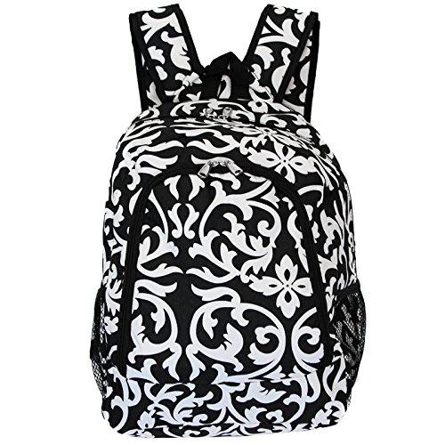 World Traveler Multipurpose Backpack 16-Inch, Black Trim Damask, One Size