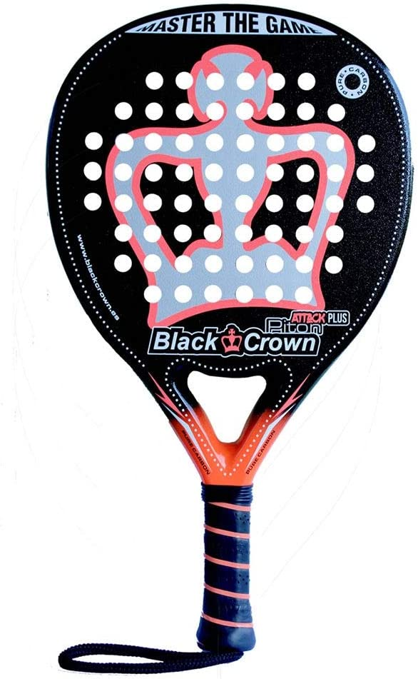 Pala de pádel Piton Attack Plus | Black Crown | Nivel: avanzado | Potencia: 95%, Control 90%