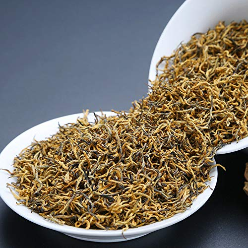 250g Nonpareil Supreme Organic Wuyi Golden Buds Jin Jun Mei Golden Eyebrow Black Tea Chinese Hong Cha