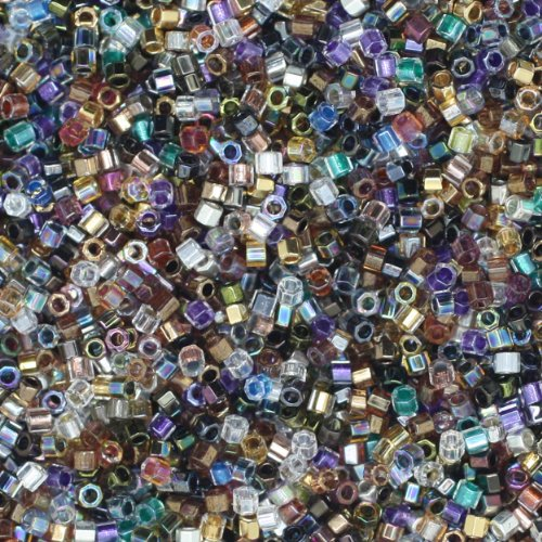 (Miyuki Delica HEX Cut Glass Seed Beads 11/0 Colorful Super Mix ~ Made in Japan)