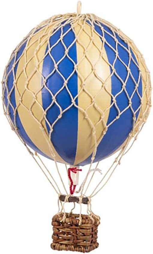 Authentic Models, Floating The Skies Air Balloon, Hanging Home Decor - Blue Double