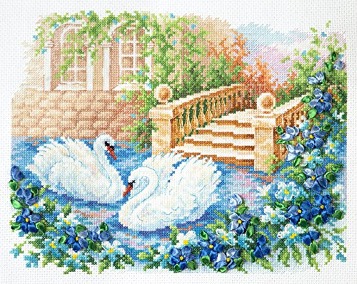 counted-cross-stitch-kit-swan-fidelity-26x21-cm-10x9-wonderful-needle-new-sealed