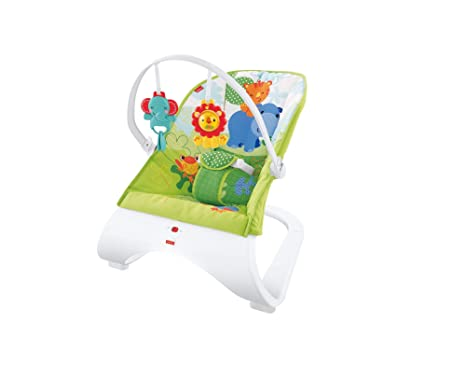 Fisher-price Rainforest New-born Baby Bouncer/rocker/chair With Vibration+toybar Baby Gear Baby