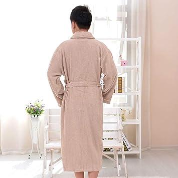 Blueqier Pyjama de Nuit Batas de algodón, Materiales de Toalla, Batas de baño de algodón, ...
