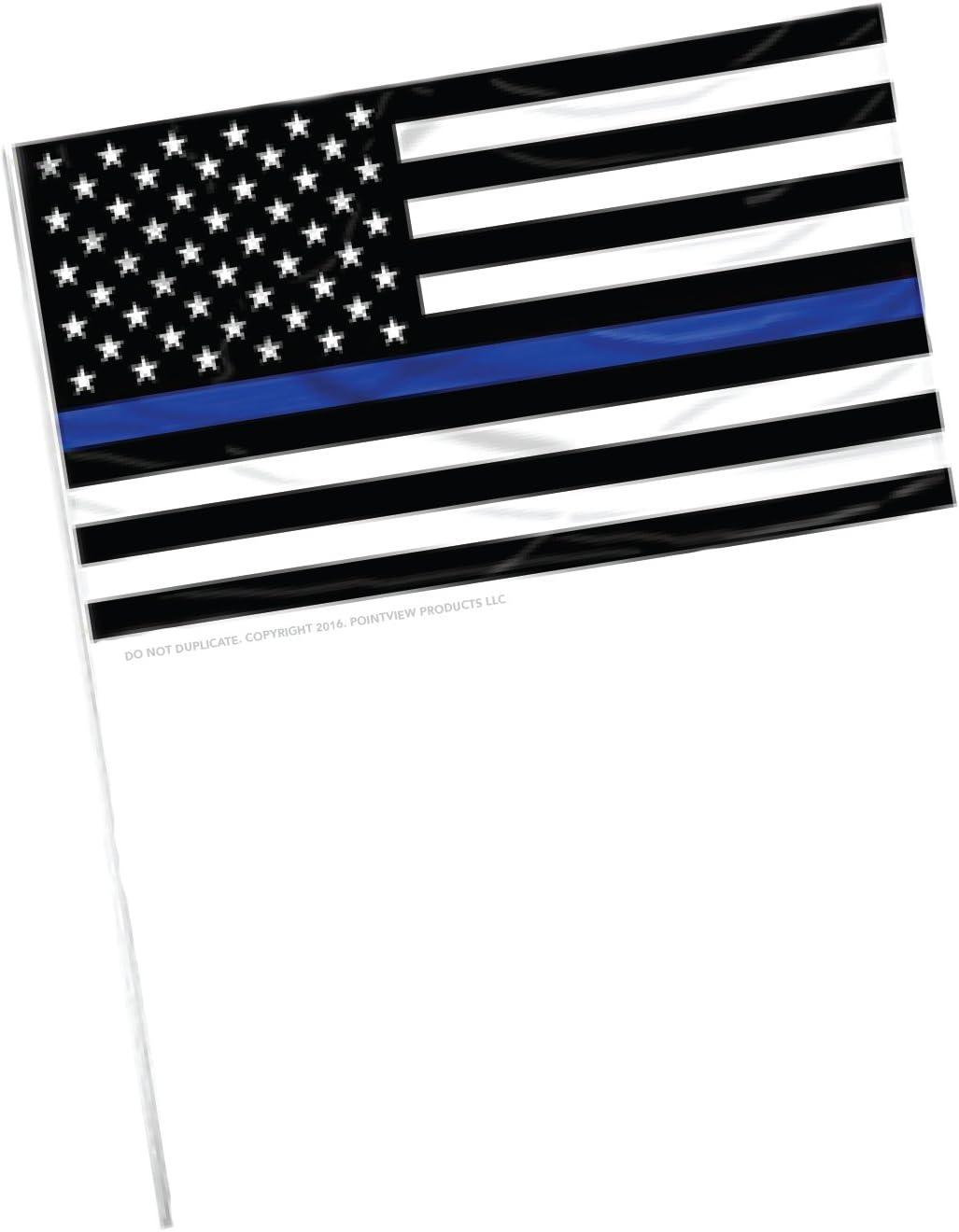 Delgada línea azul americano bandera – grande 12