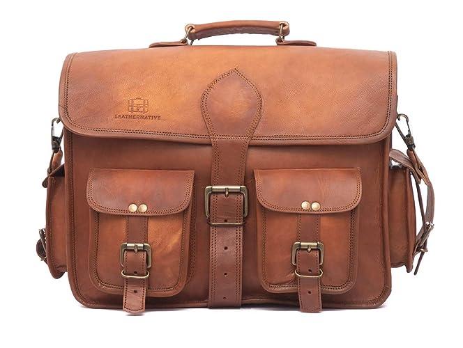 Leather Native Crossbody NEW Men s Genuine Vintage Brown Leather Messenger  Shoulder Laptop Bag Briefcase School Work Business Bag Great Gift For Men  And ... 536f159e36c48