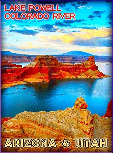 MAGNET Lake Powell Colorado River Arizona & Utah United States Travel Art Magnet Print (Lake Powell Print)