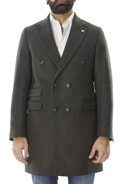 Barbati Cappotto Invernale da Uomo in Lana Mista Modello Doppiopetto  Foderato all Interno Tinta Unita vestibilità Slim Fit ad015852ad1