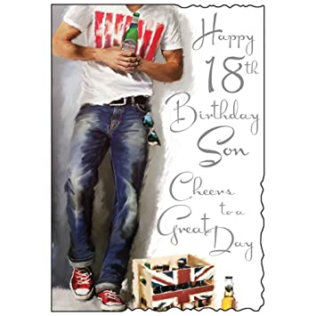 Jonny Javelin Son 18th Birthday Card Amazon Office Products