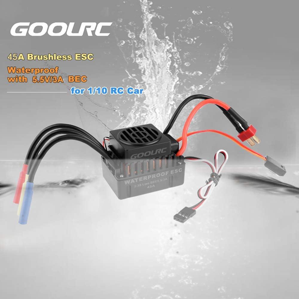 GoolRC Wasserdicht F540 3930KV Brushless Motor mit 45A ESC Combo Set Upgrade f/ür 1//10 RC Auto-LKW