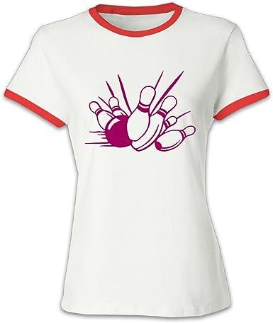 Camiseta de bolos para hombre pines para Petticoat - Rojo - L: Amazon.es: Ropa y accesorios