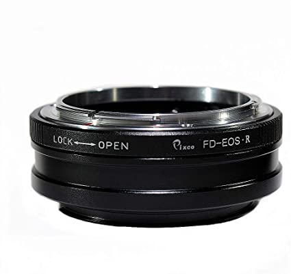 FD Lens Adapter Ring with Front Rear Cover,Aluminum Alloy Lens Adapter Ring for Canon EOS Cameras Pomya Camera Lens Adapter Ring