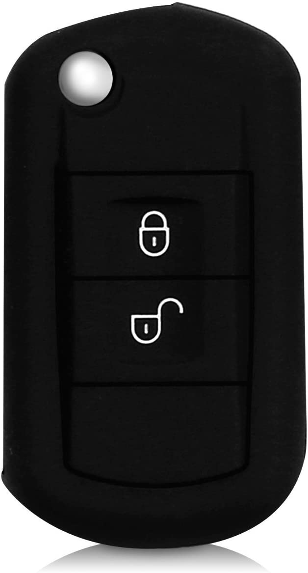 Black 2 Pack Eximone Silicone Protective Car Key Cover Protector Skin for Land Rover
