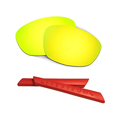 HKUCO Green Polarized Replacement Lenses plus Yellow Earsocks Rubber Kit For oomwf6W7CU Racing Jacket 63YYBe