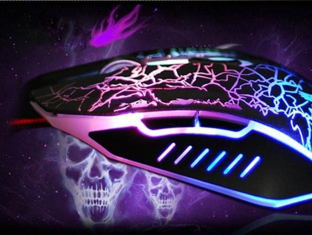 YJM Professional Colorful Backlight 4000DPI Optical Wired Gaming Mouse Mice