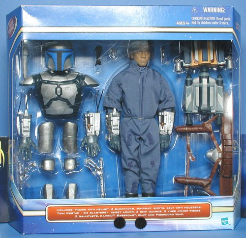 Star Wars Episode II 12 Inch Ultimate Jango Fett with Missile Launching Backpack -
