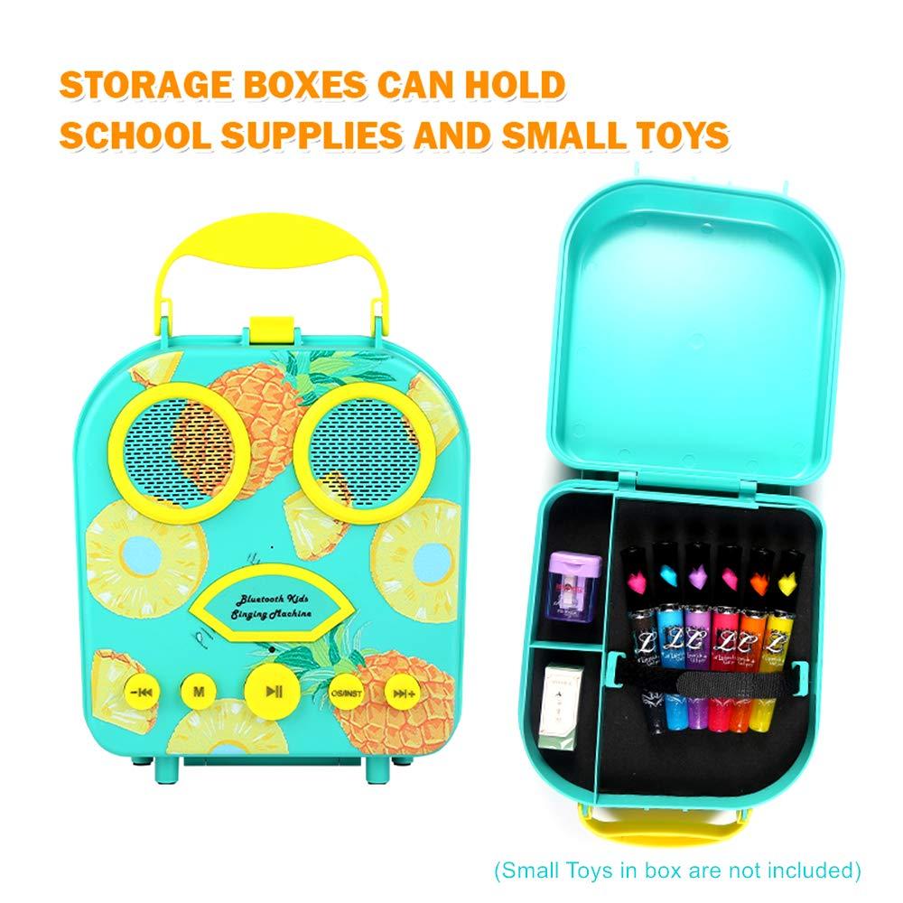 Kids Karaoke Machine with Microphone, Bluetooth Rechargeable Kids Handbag Karaoke Music Player Toy Children MP3 Player Loudspeaker with Microphone (Handbag Green) by Kidsonor (Image #6)