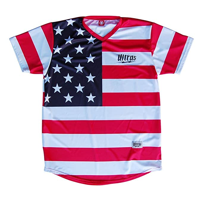 48fe8fe5294 Image Unavailable. Image not available for. Color  American Flag  76  Sublimated Soccer Jersey ...
