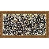 Autumn Rhythm (Number 30) 40x22 Large Gold Ornate Wood Framed Canvas Art by Jackson Pollock