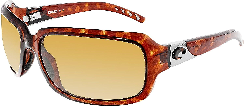 4cfb29328423 Amazon.com  Costa Del Mar Sunglasses - Isabela- Glass   Frame  Shiny  Tortoise Lens  Polarized Copper Wave 580 Glass  Clothing