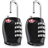 TSA Approved Luggage Combination Locks, TERSELY (2 Pack) 4 Digit Combination Padlock with Alloy Body TSA Lock for Travel…