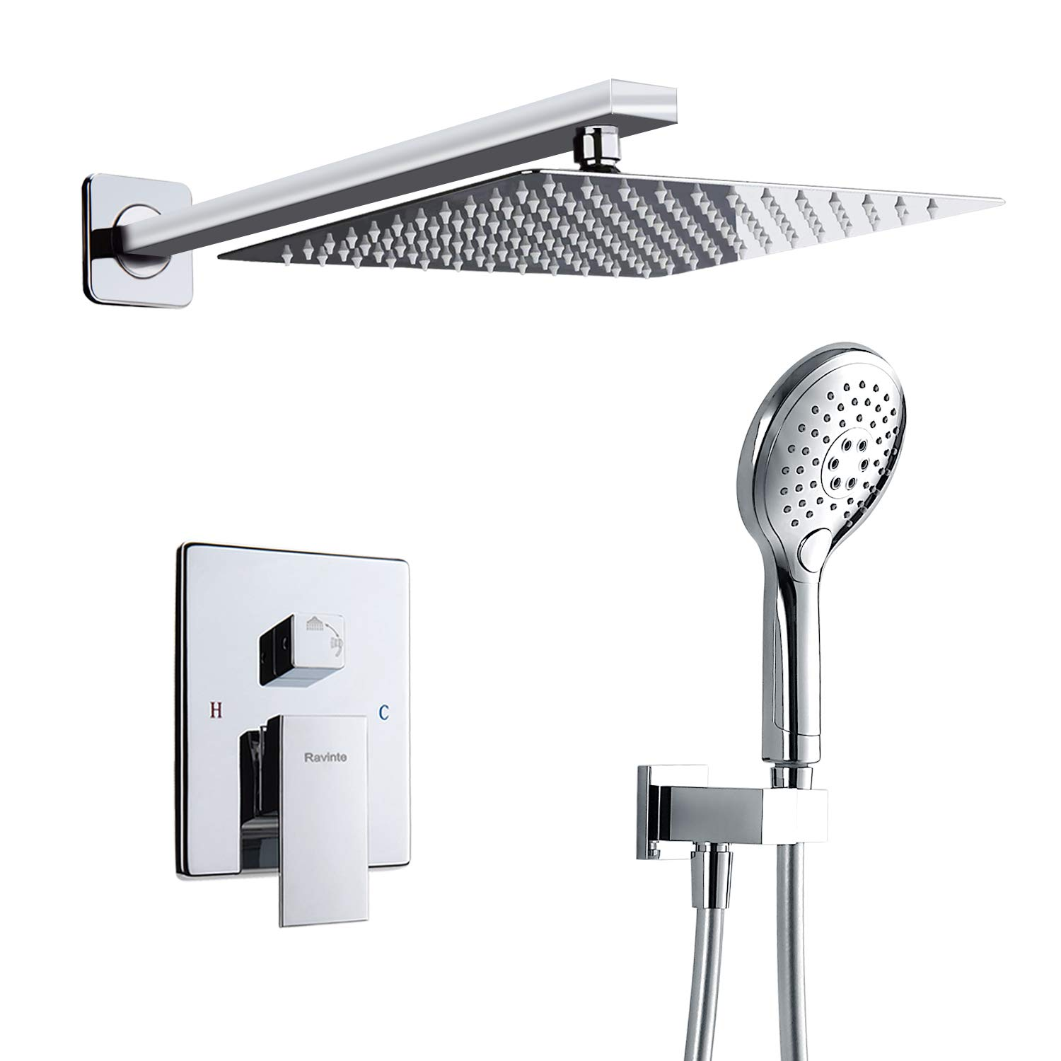 Bathroom Sinks,faucets & Accessories Faucet Cartridges Wall Mounted Digital Shower Mixer Valve Control With Display Intelligent Pre-box Bath Shower Panel Shower Mixers Chrome Finish To Be Distributed All Over The World