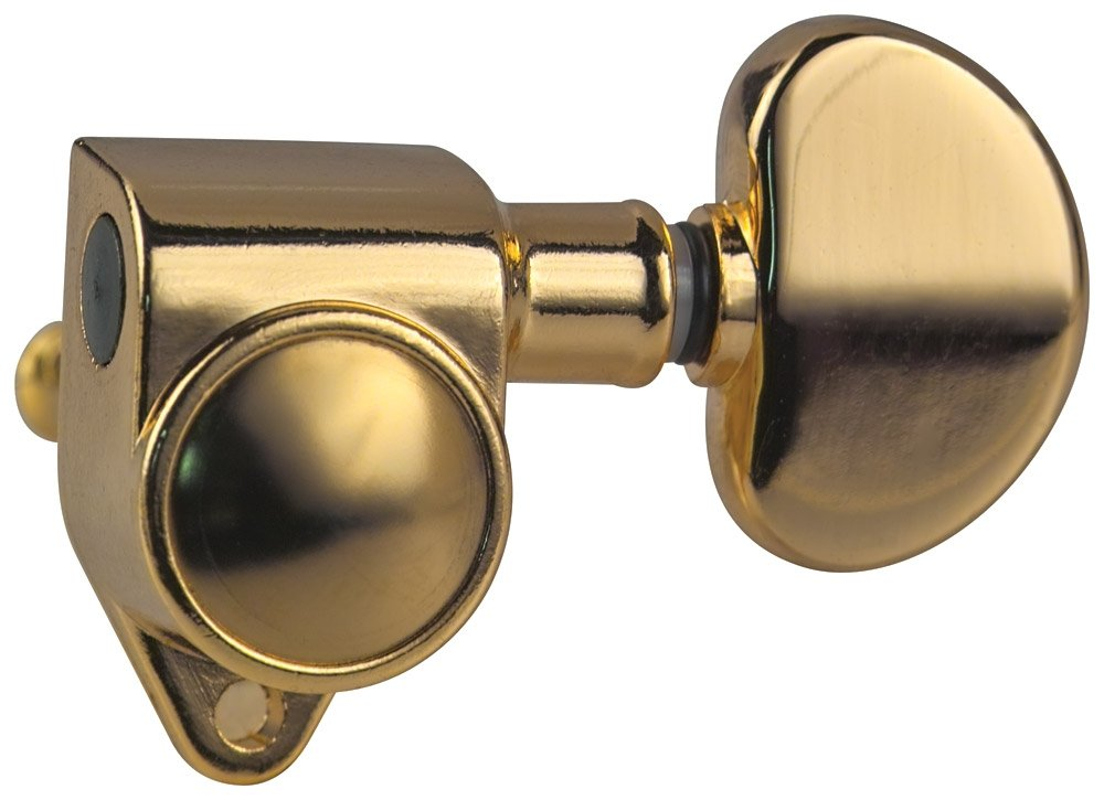 Golden Gate F-2210 Acoustic Guitar Tuners - 6 Individual (3+3) - Gold