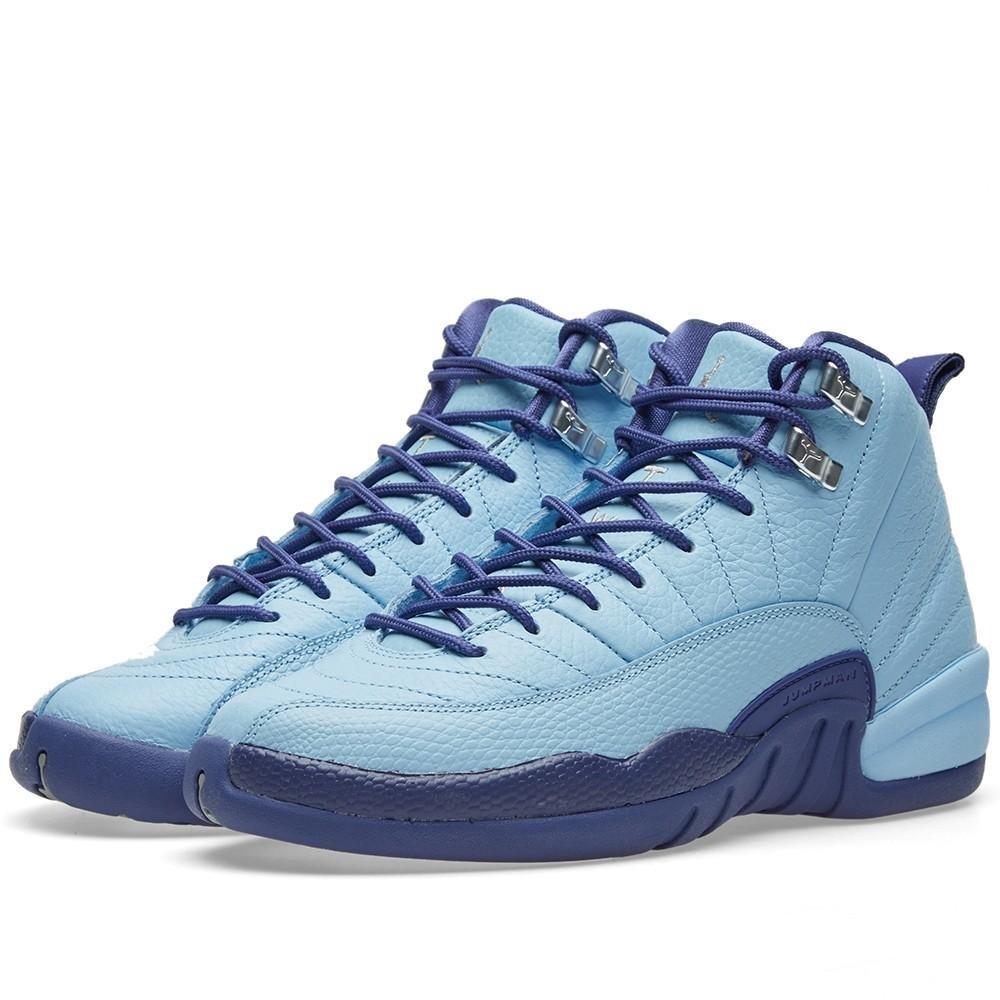 Nike Air Jordan 12 Retro GG Metallic Silver/Purple Basketball Shoe (7)