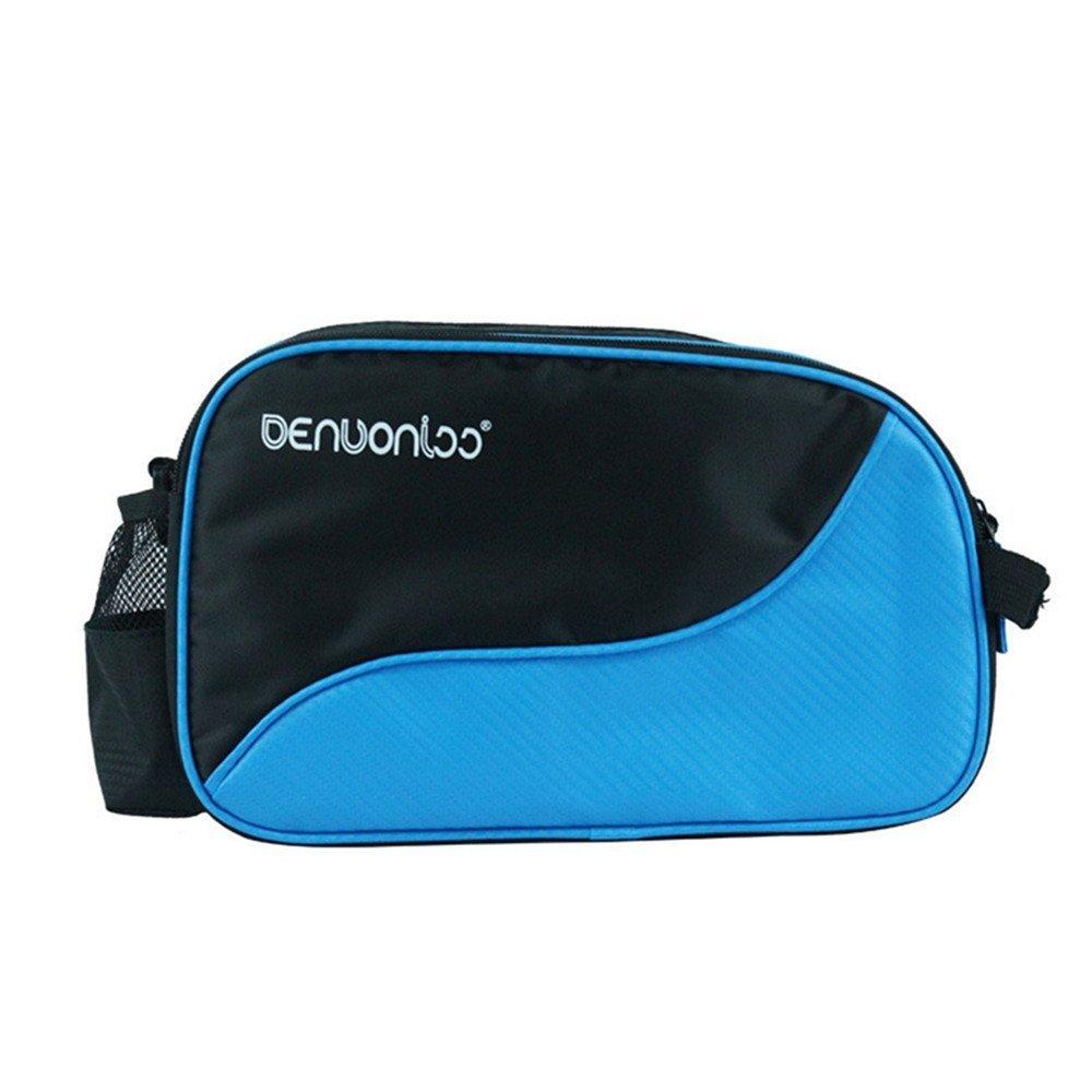 Klau Nylon Table Tennis Racket Shoulder Bag Pingpong Racquet handbag Water Resistant Outdoor Sports Bag Blue for Men and Women