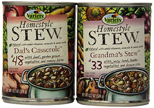 Variety Homestyle Recipes STEW Natural Dog Food with 3-Dad's Casserole and 3-Grandma's Stew, 6/13.2-Ounce, 2-Pack - Corn Casserole