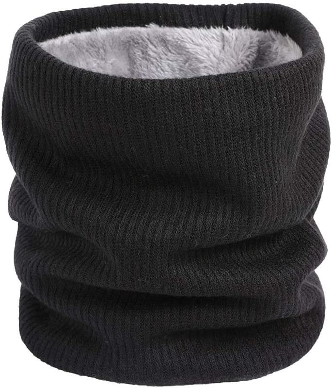 Black Men Women Scarf Winter Warm Cotton Scarves Soft Neck Scarfs Infinity Scarve Collar Bandanas