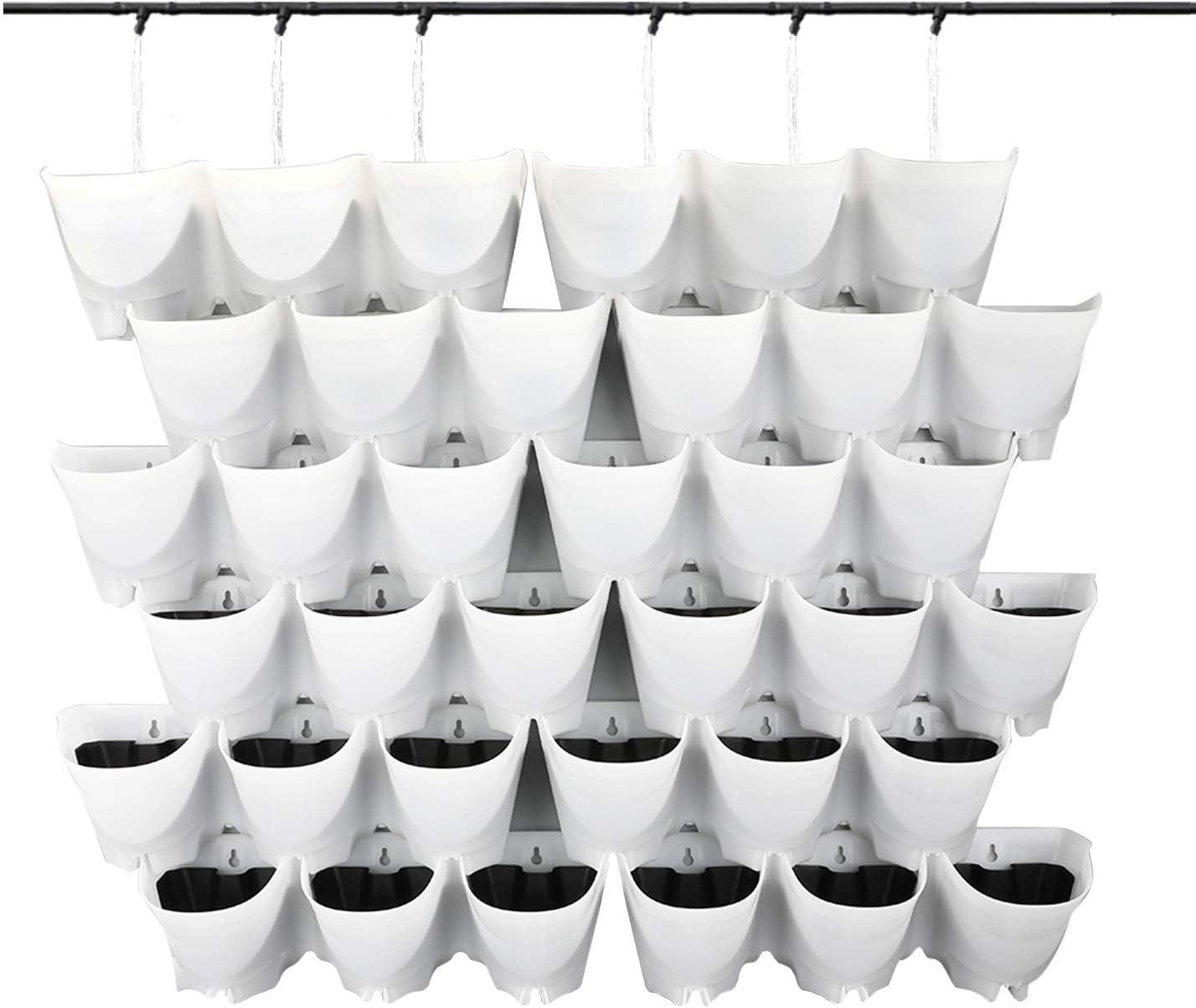 Macetas de riego automático para jardín vertical 36u. Blanco