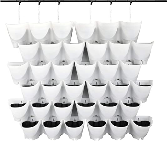 self watering Vertical Wall Hangers with Pots Included by Worth product image