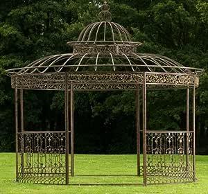 CLP redonda Carpa romanticismo, de lujo de hierro cuadrado perfiles Estable, diámetro 3,45m, altura de 350cm Bronce