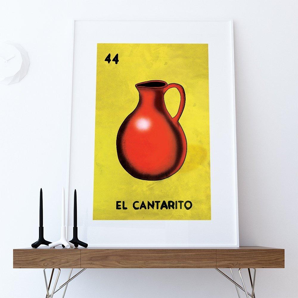 Amazon.com: Loteria El Cantarito Mexican Retro Illustration Art ...