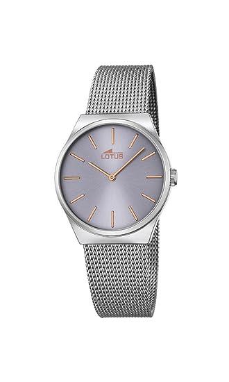 4ebd7d79e3e8 Lotus Reloj Analógico para Mujer de Cuarzo con Correa en Acero Inoxidable  18288 2  Amazon.es  Relojes