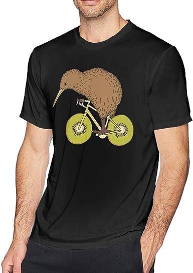 Wuyouhua Kiwi RidingWith Kiwi Wheels - Camiseta de Manga Corta para Hombre, Color Negro Negro Negro (XXXXXL: Amazon.es: Ropa y accesorios