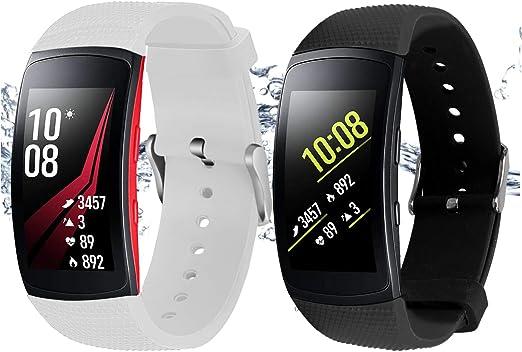 Rukoy Correas Samsung Gear Fit 2 Band/Gear Fit 2 Pro [Paquete de 2 ...