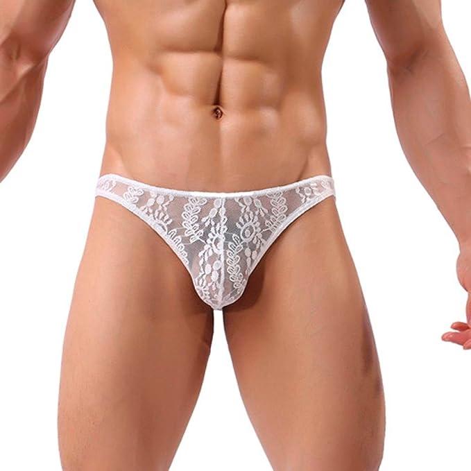 Slips Unterwäsche Unterhosen Niedrige Taille Solide Elastisch Männer Mesh
