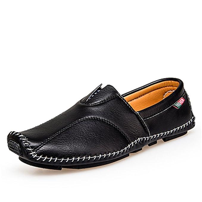 Bridfa Estilo de moda Mocasines suaves Hombres Mocasines Zapatos de cuero Hombres Zapatos de conducción: Amazon.es: Ropa y accesorios